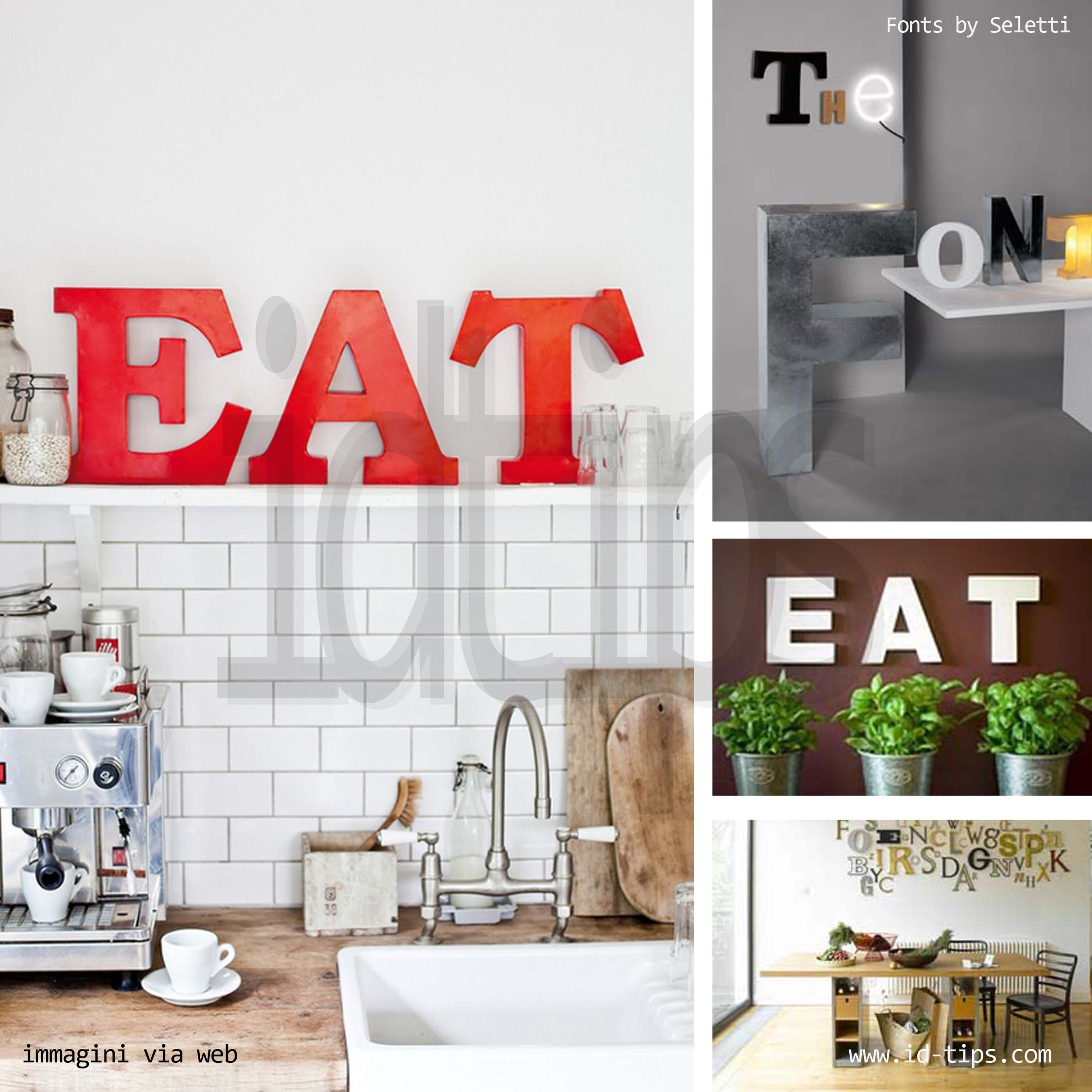 A b c lettering id tips interior design tips blog - Quadri da appendere in cucina ...