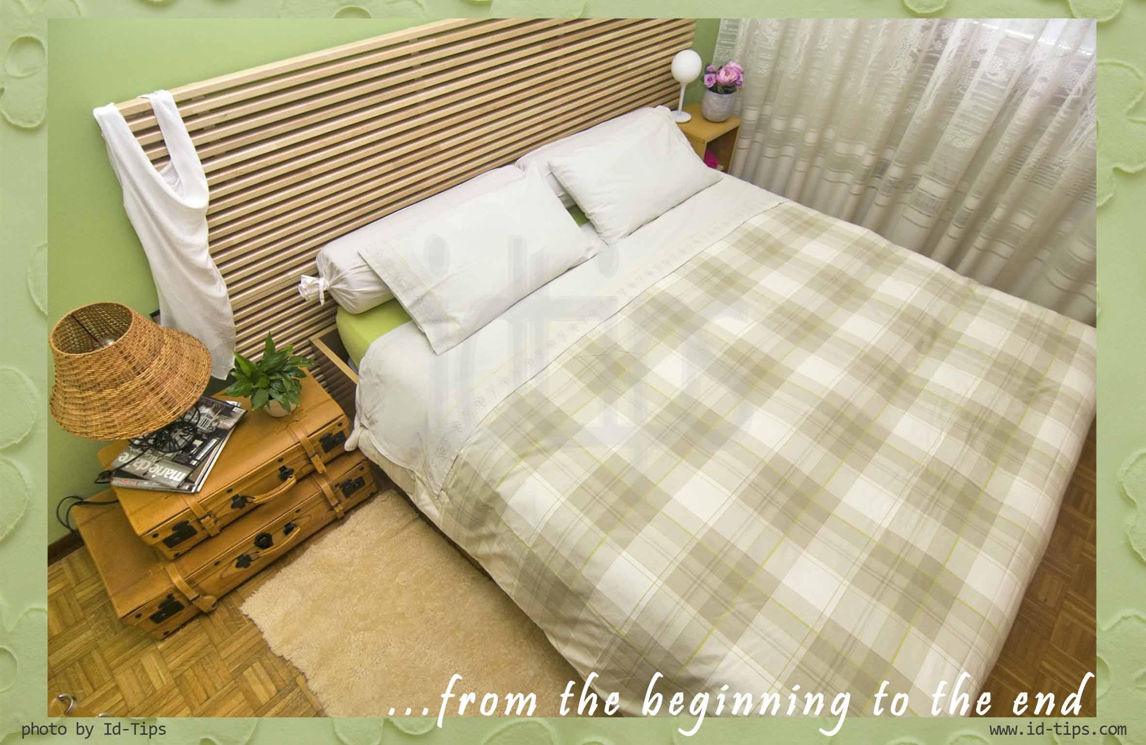 Aria di cambiamento in camera da letto for Testiera letto ikea mandal