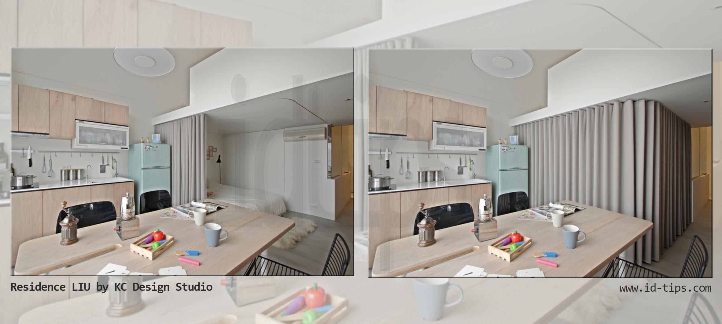 Separare con le tende id tips interior design tips blog for Piani di un appartamento con una camera da letto