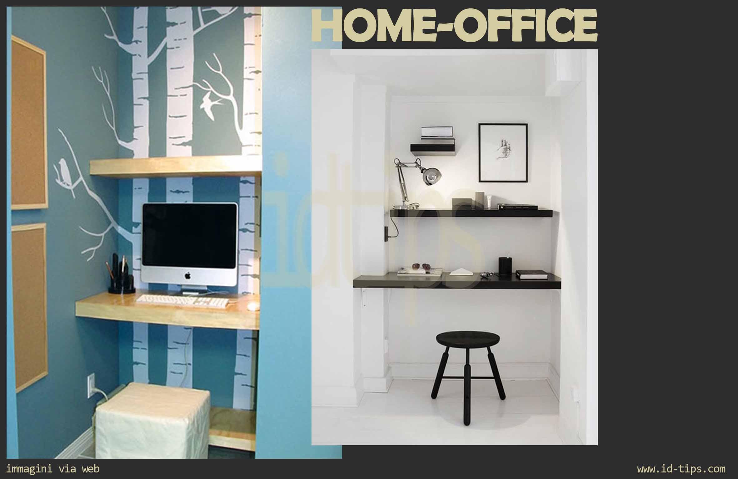 Home working la sfida dell ufficio in casa id tips for Arredare nicchia soggiorno