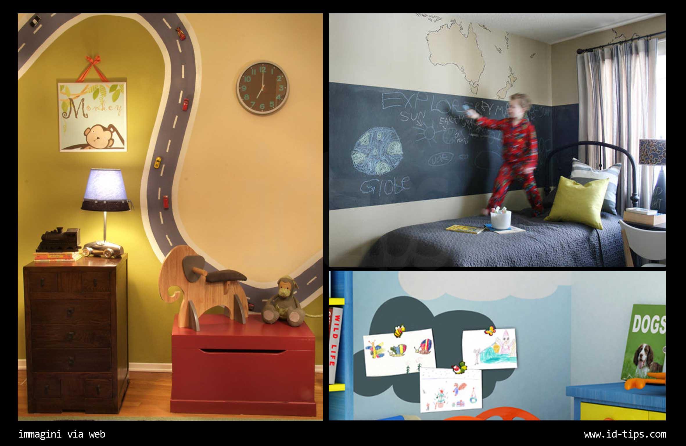 Colori muri camerette bambini idee per dipingere - Decorazioni camera bimbi ...