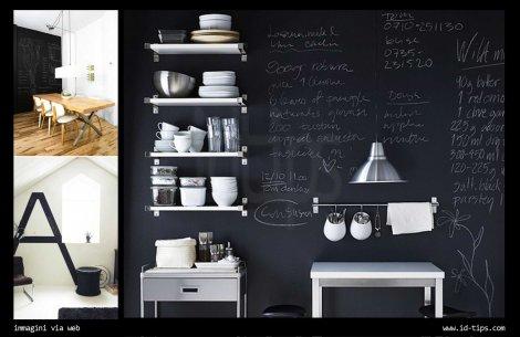 Una parete lavagna in casa | Id-Tips | Interior Design Tips Blog