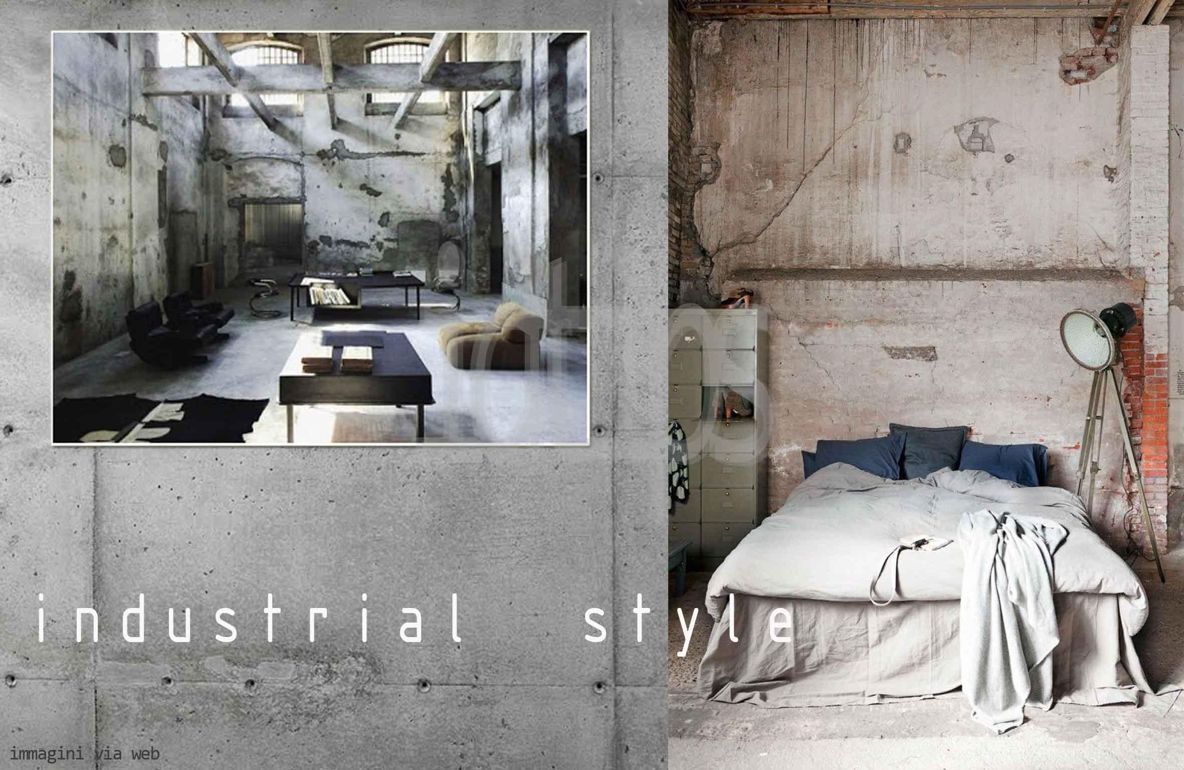 Carta da parati stile industriale un 39 idea - Camera stile industriale ...