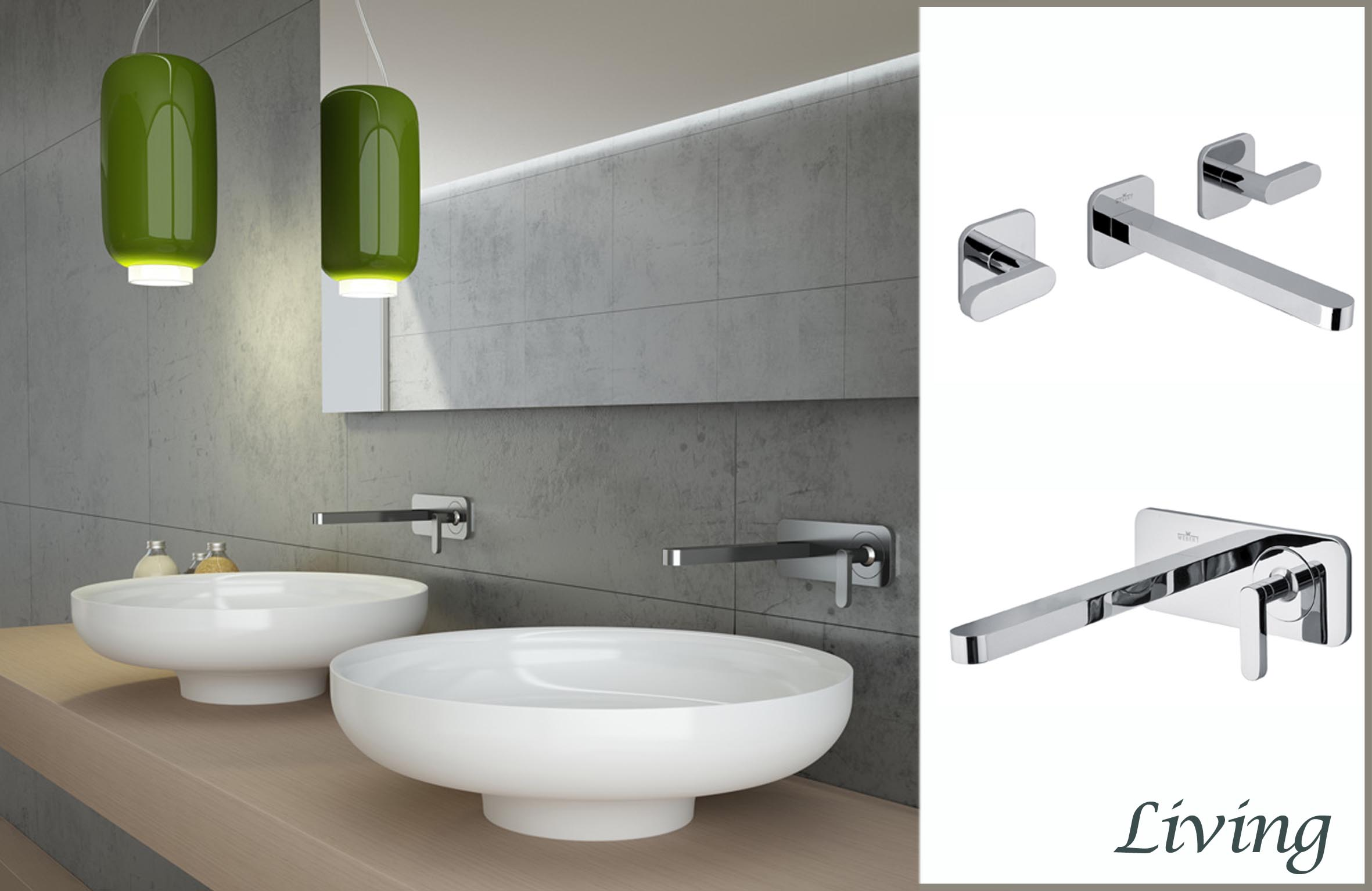 Ad ogni lavabo il proprio rubinetto - Rubinetto a parete bagno ...