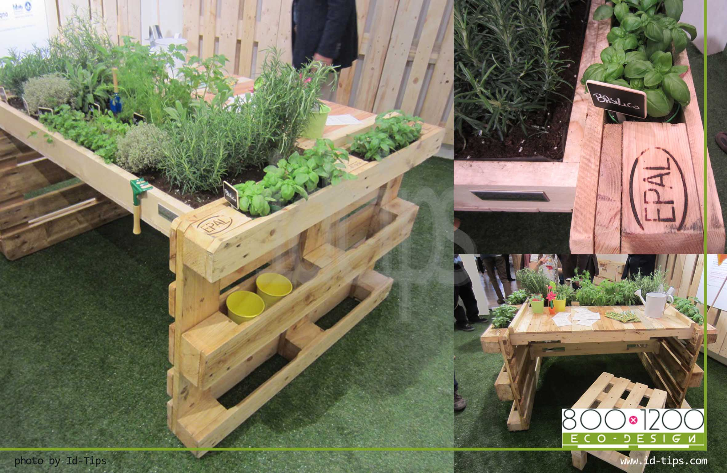 Il pallet ovunque id tips interior design tips blog for Mobile giardino