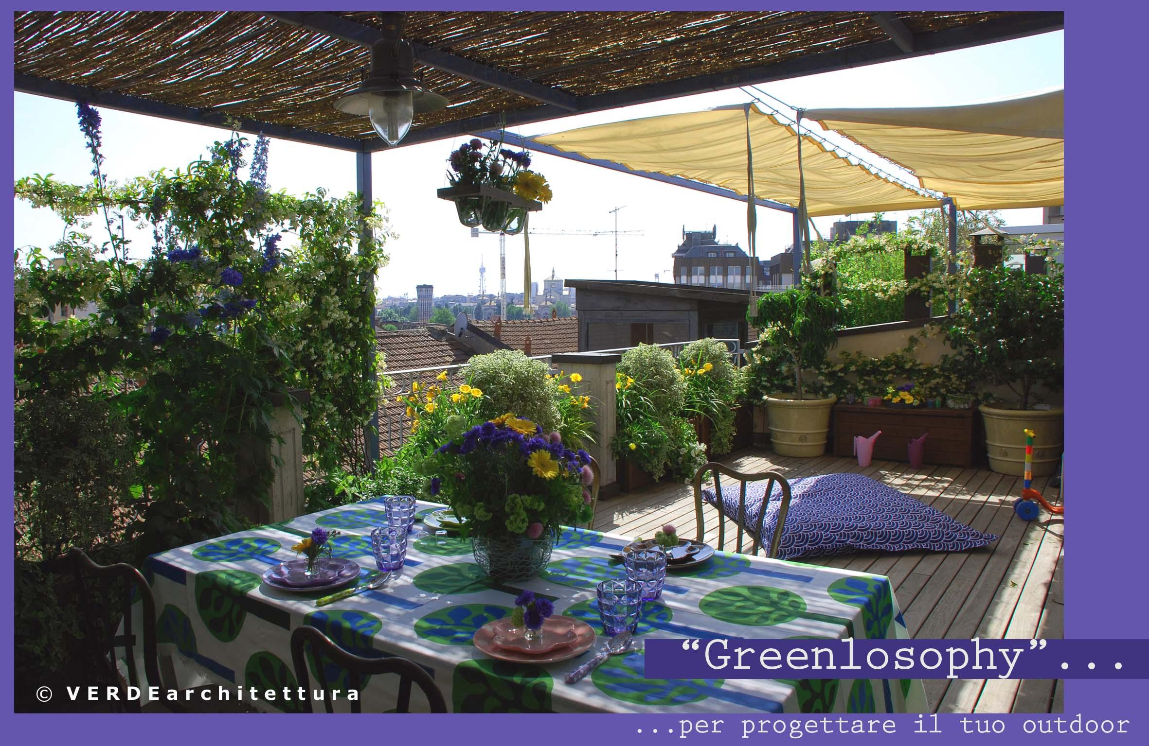 Arredare il terrazzo con greenlosophy for Idee per giardino in terrazza