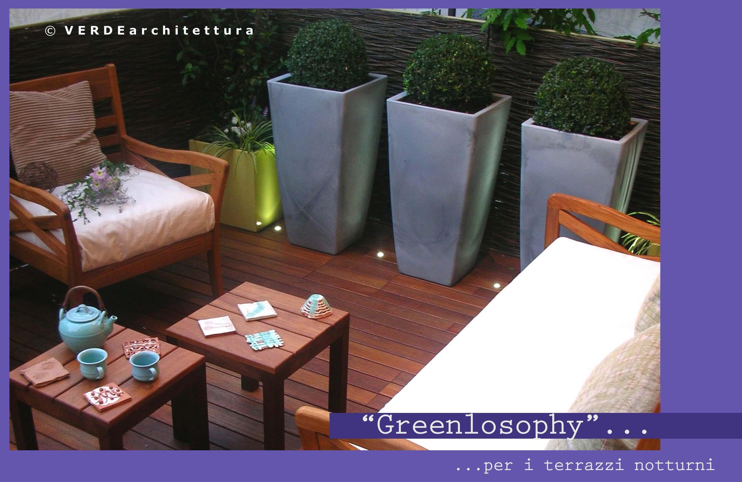 Arredare il terrazzo con greenlosophy for Arredare terrazzi piccoli