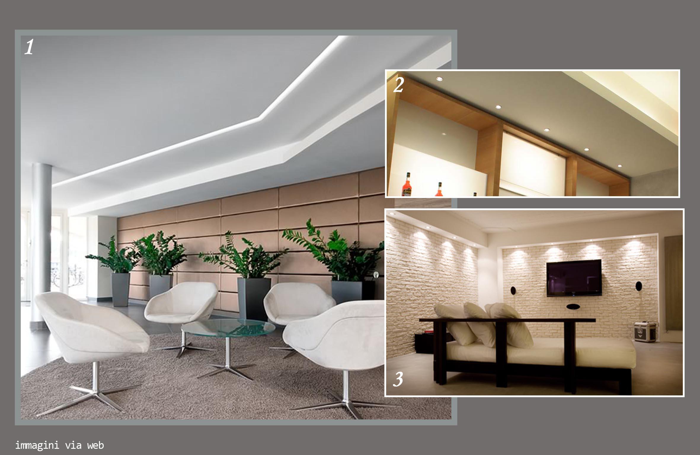 Illuminazione soggiorno controsoffitto: controsoffitti opere in